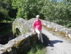 Con Javier Gómez en el puente de Portilla