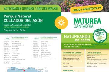 Julio y Agosto en Naturea Cantabria resumido en 7 pósters
