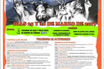 VI Feria de Caza, Pesca y Productos Agroalimentarios de la Comarca de Liébana el 25 y 26 de marzo