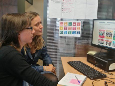 Evgenia Popova y Sara Cruz, encargadas del desarrollo de este proyecto