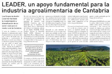 LEADER, un apoyo fundamental para la industria agroalimentaria de Cantabria