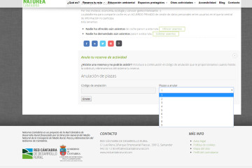 Nueva funcionalidad: cancelación de reservas vía web