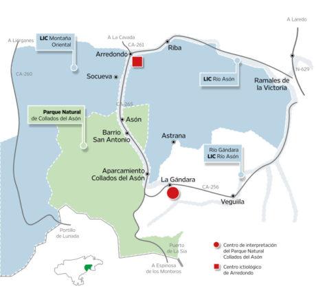 Mapa territorial del CI del PN Collados del Asón