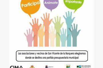 Miércoles 4 Diciembre, jornada de presentación de los presupuestos participativos de San Vicente de la Barquera