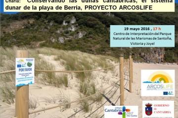 Charla: Conservando las dunas cantábricas, el sistema dunar de la Playa de Berria, PROYECTO ARCOSLIFE