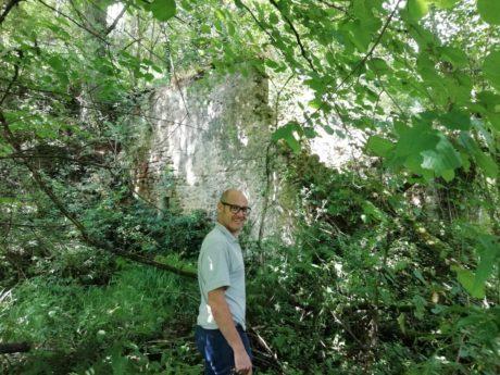 Pedro González en el Molino de Barriopalacio de Anievas