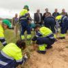 Hemos colaborado en una jornada de voluntariado para eliminación de invasoras en el PN de las Dunas de Liencres en el marco del LIFE ARCOS