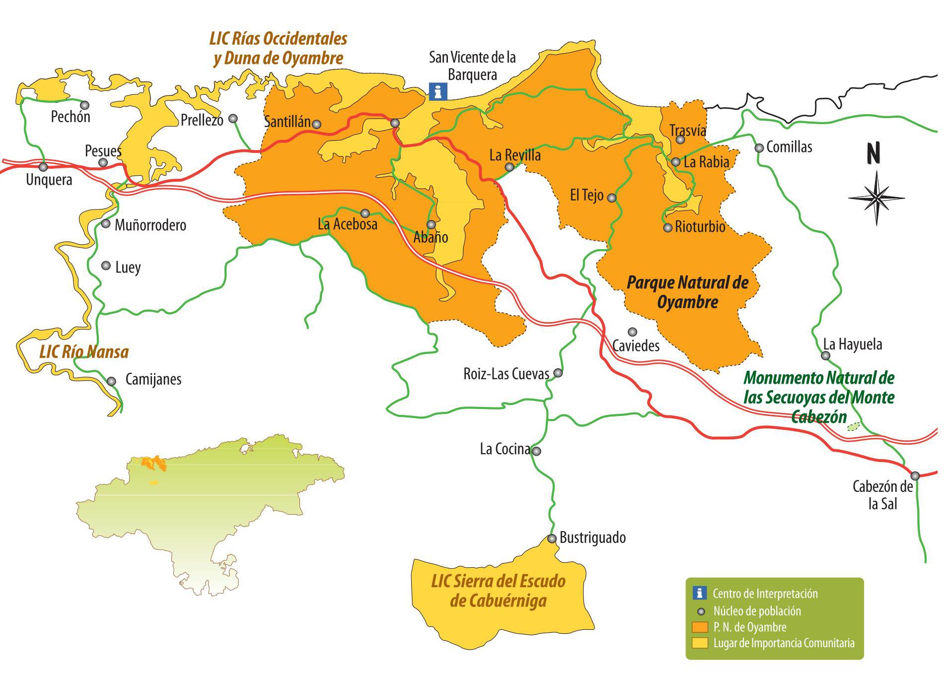mapa oyambre