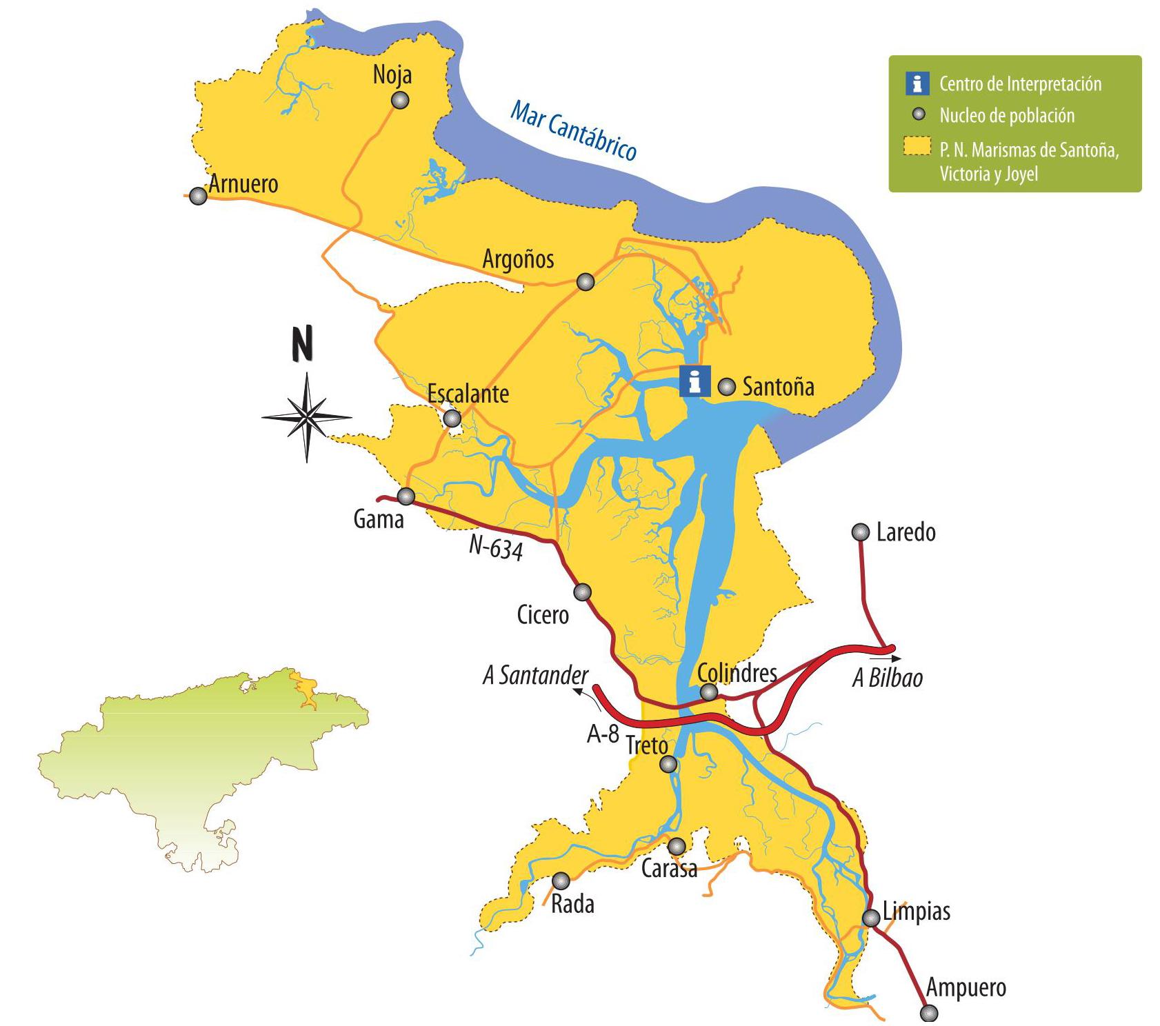 mapa santona