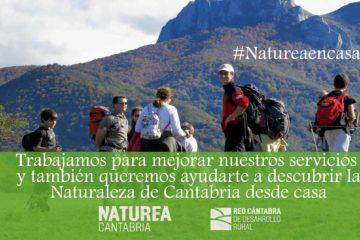 #Natureaencasa Seguimos trabajando para mejorar nuestro servicio y también queremos aprovechar para enseñarte la naturaleza de Cantabria