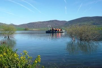 Pantano del Ebro en lancha