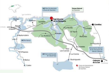 Mapa territorio Oyambre