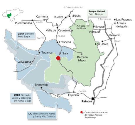 Mapa territorio Saja Besaya