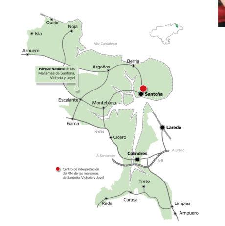 Mapa territorio Santoña