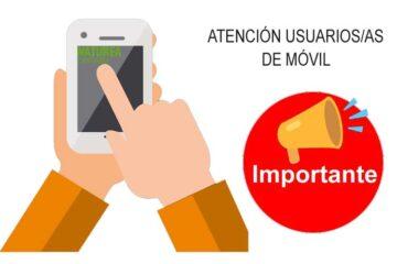 IMPORTANTE: incidencia en reservas vía móvil