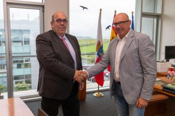 Secundino Caso, nuevo presidente de la REDR, se reúne con Jesús Oria, consejero de Medio Rural del Gobierno de Cantabria