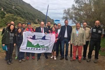Trabajos de restauración del sistema dunar de Berria
