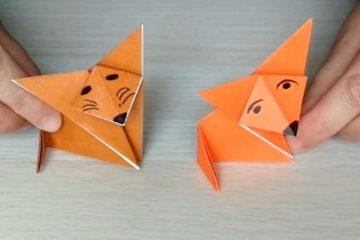 #Natureaencasa Hoy os enseñamos a hacer un zorro con papiroflexia